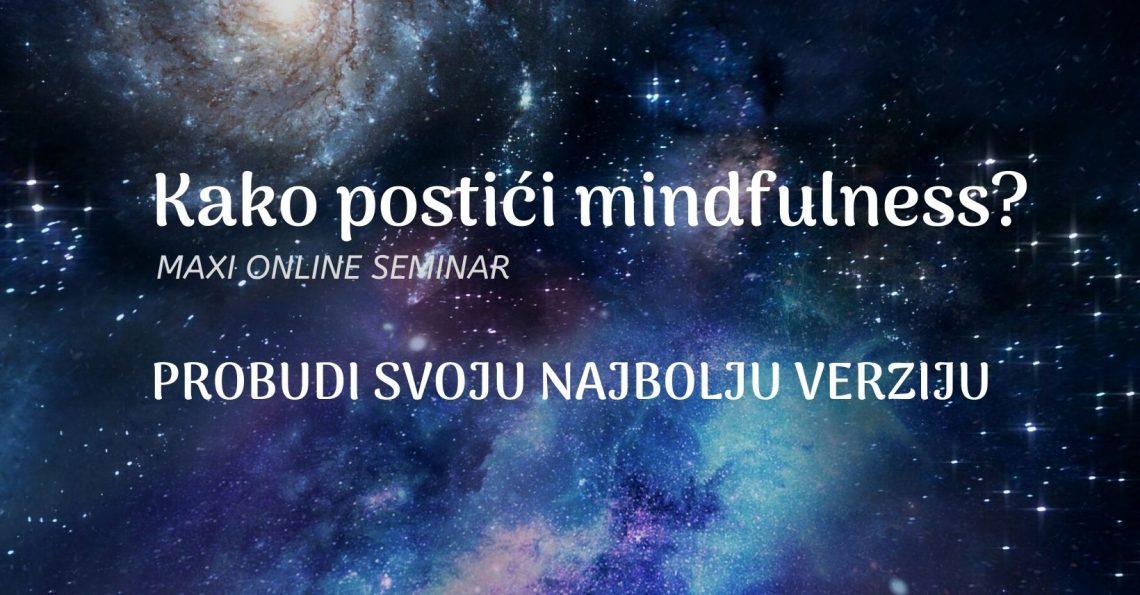 Maxi seminar kako postici mindfulness